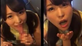 可愛い純情OL娘に公衆トイレでフェラ口内発射した素人スマホ動画