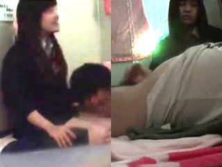 JKリフレ裏メニューでエッチ手コキ禁断サービス現場を盗撮した動画