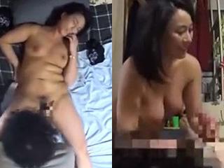 職場の巨乳パート人妻とエッチ隠し撮りクンニ手マンで潮吹き素人動画