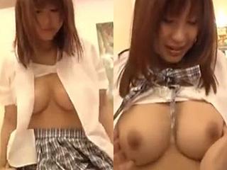 垂れて無い張った巨乳おっぱいGカップ女子高生ハメ撮りエロ動画