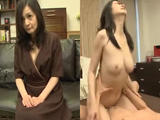 綺麗すぎる50代の美魔女がAV面接でSEXした熟女エロ動画