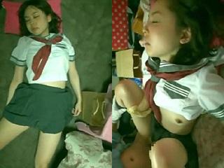 高校生の妹に睡眠薬を飲ませレイプした素人スマホ撮影SEX動画