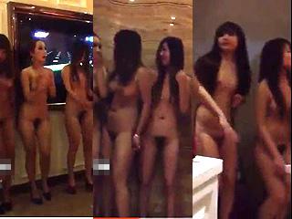 タイ風俗事情だぁー売春宿で裸の娘達が踊ってる店内を撮った動画