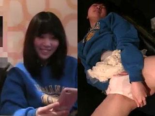 JK彼女にカラオケ店でオナニーさせた高校生カップルのエロ動画