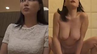安めぐみ似てる爆乳Gカップ人妻が電マでイキ捲る素人エロ動画