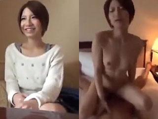 ハメ撮りセックスでガチでイク可愛い女子大生の素人エッチ動画