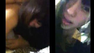 素人カップルのスマホでの個人撮影が流出カップルセックス動画
