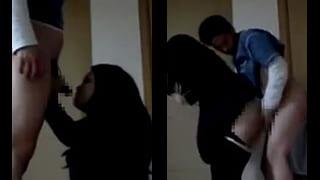 彼女のM女がイラマチオから立ちバックされる素人ハメ撮り動画