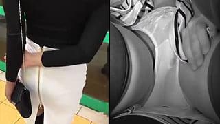 電車でパンツの中に手まで突っ込んでる痴漢がスマホ撮影した動画