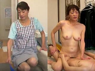 家政婦の熟女を無理矢理SEXしちゃった素人が盗撮したエロ動画