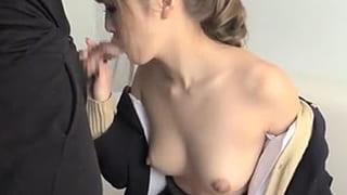 巨乳ギャル女子高生にフェラで口内発射した素人撮影エッチ動画