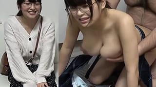 メガネが似合う仲間由紀恵そっくり爆乳Gカップ素人のSEX動画